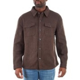 LONDON FOG Mens Wool Blend Coat With Snap Button C