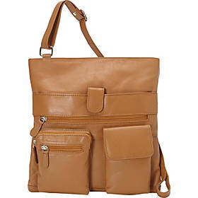 R & R Collections Large Crossbody with Two Front P