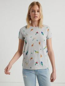 Lucky Brand Allover Embroidered Flower Tee