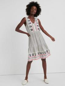 Lucky Brand Luna Border Print Dress