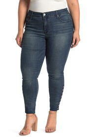 Seven7 Hook-and-Eye Mid Rise Skinny Jeans (Plus Si