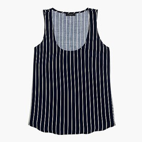 J. Crew Factory Striped sleeveless top
