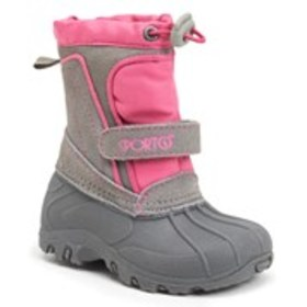 SPORTO Toddler Girls Two-Tone Leather Cold Weather