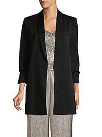 Alice + Olivia Long-Sleeve Stretch Blazer BLACK