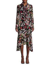 Equipment Palo Floral-Print Silk Midi Dress TRUE B