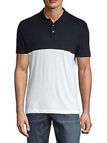 French Connection Colorblock Short-Sleeve Cotton P