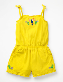 Boden Embroidered Jersey Romper