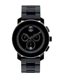 Movado BOLD Black Chronograph Bracelet Watch BLACK