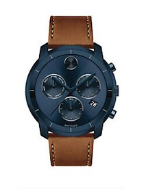 Movado BOLD Large Chronograph Ink Blue Ion-Plated