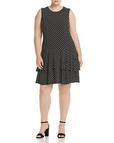MICHAEL Michael Kors Plus - Sliced Dot Flounced Dr