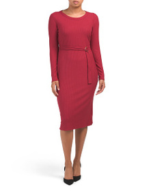 PHILOSOPHY Ribbed Dress With Self Belt