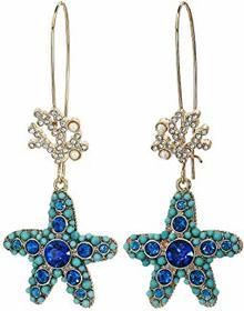 Betsey Johnson Starfish Drop Earrings
