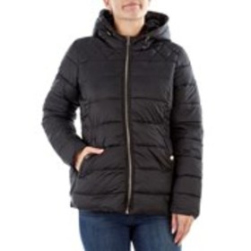 JESSICA SIMPSON Faux Fur Trimmed Hooded Quilted Ja