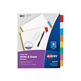 Avery Big Tab Write & Erase Paper Dividers, 8-Tab,