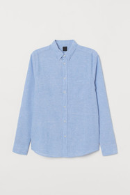 Slim Fit Linen-blend Shirt