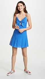 alice + olivia Roe Tie Front Flare Dress