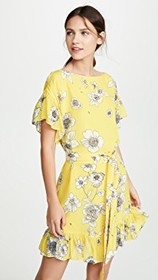 alice + olivia Ellamae Drop Shoulder Ruffle Sleeve