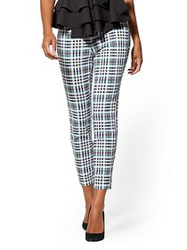 Whitney High-Waisted Pull-On Ankle Pant - Plaid -
