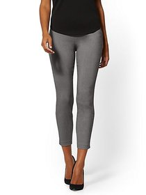 Whitney High-Waisted Pull-On Ankle Pant - Grey - N
