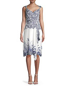 Elie Tahari Sleeveless Floral Printed Dress PEARL