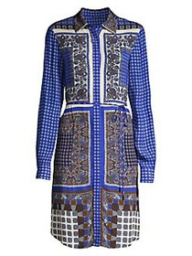 Elie Tahari Roxanne Paisley Georgette Dress BLUE G