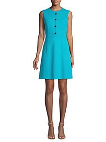 Elie Tahari Louisa Knit A-Line Dress AQUARIUS
