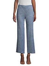 Elie Tahari Leena Cropped Melange Pants LIGHT INDI