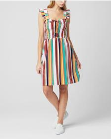 Juicy Couture MAROC STRIPE MICROTERRY SMOCKED DRES