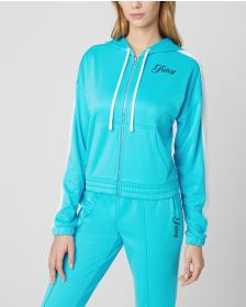 Juicy Couture SOLID TRICOT TRACK HOODIE JACKET