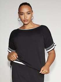 Tipped Black Sweater - Gabrielle Union Collection