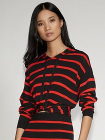 Stripe Hooded Sweater - Gabrielle Union Collection