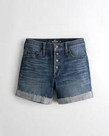 Hollister Advanced Stretch High-Rise Denim Short 5
