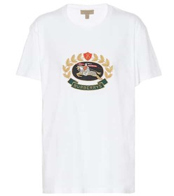 Burberry Embroidered cotton T-shirt