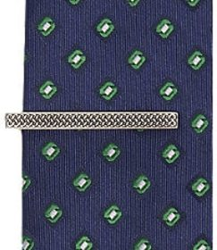 Jos Bank Jos. A. Bank Woven Pattern Tie Bar CLEARA
