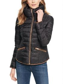 Coalition LA Quilted Funnel Collar Puffer Jacket