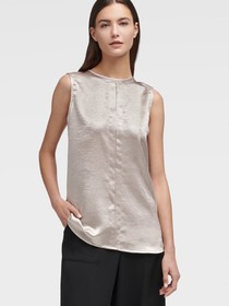 Donna Karan Sleeveless Keyhole Top
