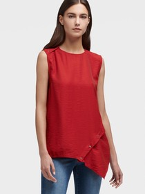 Donna Karan Sleeveless Asymmetrical Top