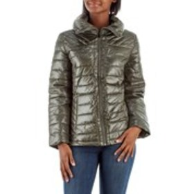 BIG CHILL Shiny Metallic Down Jacket with Stand Co
