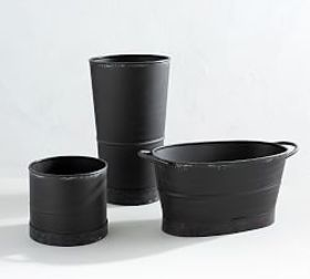 Pottery Barn Blackened Galvanized Vase Collection