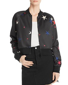 PAM & GELA - Star Print Cropped Track Jacket