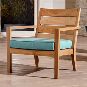 Crate Barrel Regatta Natural Lounge Chair with Sof