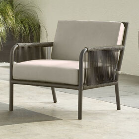 Crate Barrel Morocco Graphite Lounge Chair with Si