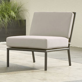 Crate Barrel Morocco Graphite Sectional Armless Ch