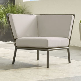 Crate Barrel Morocco Graphite Sectional Corner wit