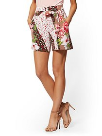 6 Inch Madie Short - Mixed-Floral Print - 7th Aven