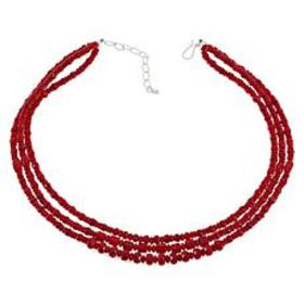Jay King Sterling Silver 3-Strand Red Sea Bamboo C