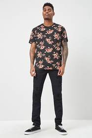 Forever21 Floral Print Tee