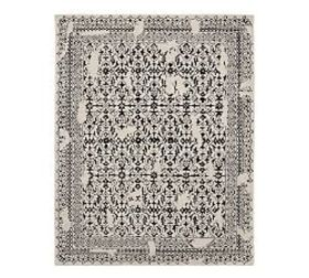 Pottery Barn Elva Tufted Rug - Black Multi