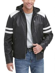 Wilsons Leather Ashton Faux-Leather Moto Jacket