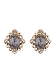 Marchesa Soiree Button Embellished Stud Earrings